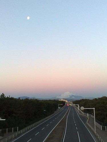 Moon and Mt.Fuji