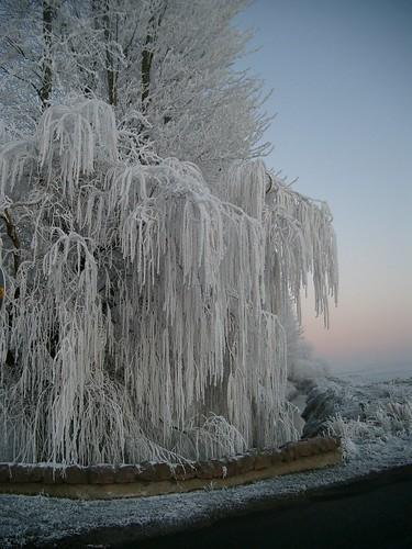 08 0431  - Frozen cascade at dusk, Nairn