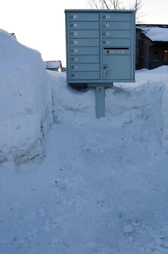 mailbox snow piles