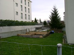 A new vegetable patch... (Ange Halle) Tags: snow wil switzerland urbannature sustainability allotments vegetablesinthecity