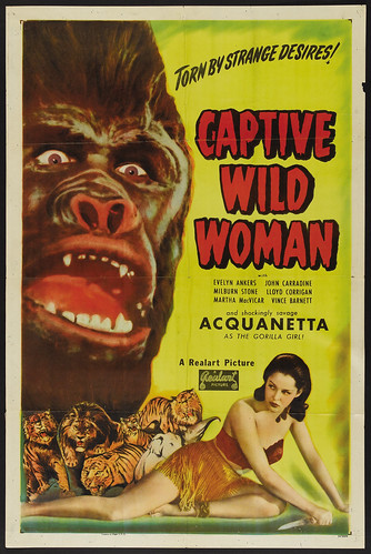 CAPTIVE WILD WOMAN Realart Rerelease 1948