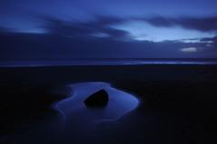 The Blue Hour (JimCochrane) Tags: longexposure beach southwales dark landscape twilight nightscape rainstorm bluehour dunraven