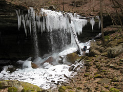 Big Laurel Falls, Big Laurel Creek Cave, Jason Collard, Virgin Falls State Natural Area, White Co, TN (Chuck Sutherland) Tags: county white jason creek waterfall big frost tn natural state tennessee entrance falls virgin area cave laurel icicles collard tennesseeparksandgreenwaysfoundation tnpagf