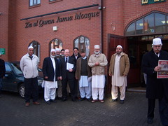 With my friends at Zia ul Quaran Jamia Mosque, I wanted them to know where I stand on the war in Gaza - see my website for my full statement (Liam Byrne MP) Tags: green hill parliament liam heath end mp member shard rt hon byrne hodge bordesley washwood