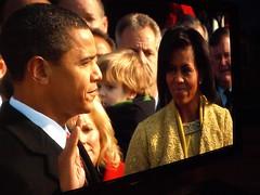 Obama swears the oath (Thoroughly Good) Tags: usa tv president bbc hd obama