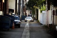 LP (j.hietter) Tags: lamborghini lp640 coupe pearl white dark alley alleyway headlights beverly hills california