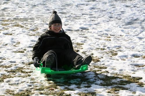 Adam sledding