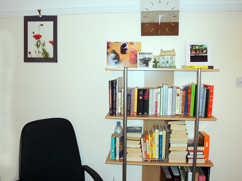 New bookshelf near workplace