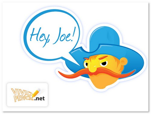 'Hey, Joe!' Cartoon Cowboy Design