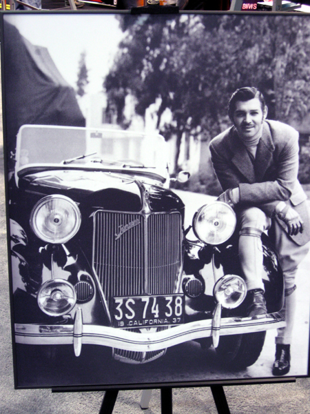 Clark Gable with 1936 Jensen-Ford (Click to enlarge)