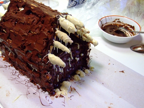 chocolate log cabin 31