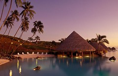 Tahiti (Mike NZ) Tags: travel tourism pool swimming french nikon fuji dusk tourist palm velvia tropical recreation tahiti nightfall oceania sportsrecreation waterrecreation polyneasia mikehollman