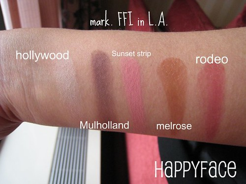 mark. FFI L.A. swatches