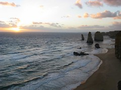 sunset at 12 apostles