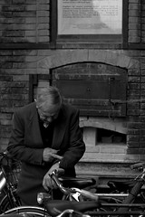 As time goes by... (ita145117) Tags: bw time bn tempo granfather bicicletta faenza astimegoesby nonnino