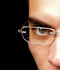 The Hunter's Eye (Lilith Ecate) Tags: portrait man detail male eye love water contrast ojo glasses drops agua retrato deep sguardo gotas contraste gafas mirada acqua ritratto amore occhio beloved viso amato encanto gotitas gocce contrasto profundidad profondit bewitch goccioline