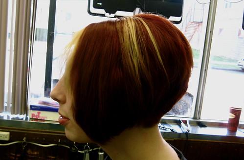 bob haircut. dj blu. hair style