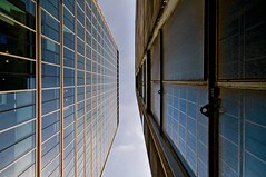 New and Old (beechlights) Tags: old reflection london condemned empty lookingup moorgate offices cityoflondon moorhouse moorfields sigma1020mmf456 nikond300 moorgatetelephoneexchange