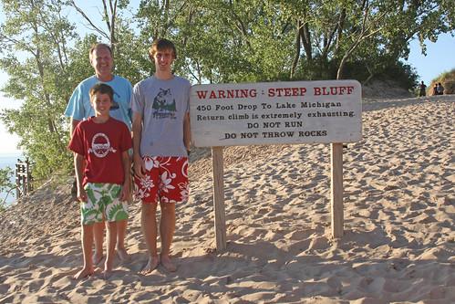 dune climb sign