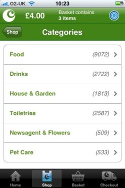 Ocado product categories