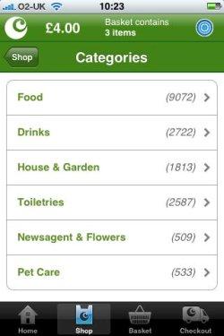 Ocado product categories
