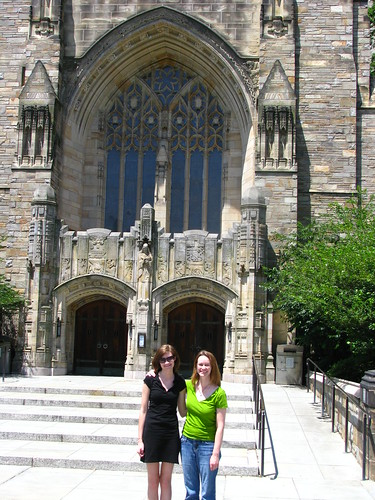 Kim and me, in front of library