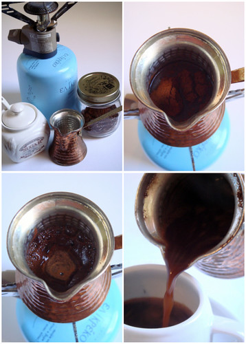 greek coffee collage