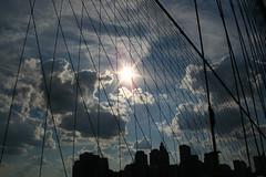 diamonds (jamesodonnellart) Tags: nyc newyorkcity sun brookylnbridge