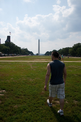 Dan alone on the Mall