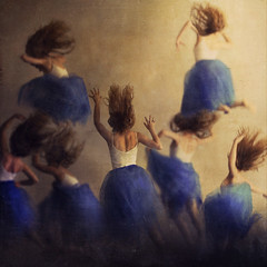 ballet:vacate (brookeshaden) Tags: blue ballet selfportrait painting movement floating falling clones frantic desperation graceful tutu grasping vacate brookeshaden