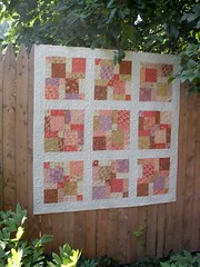 gypsy rose disappearing 9-patch (Jaybird Quilts) Tags: quilt moda figtree ninepatch charmpack