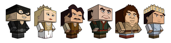 Cubeecraft Princess Bride Characters