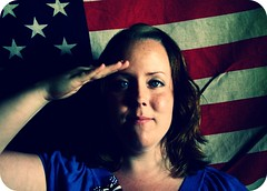 A Salute to Anna Gay. (alibubba) Tags: selfportrait america army unitedstates salute americanflag patriotic pride sp starsandstripes selfie 365days annagay salutetoannagay