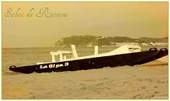 Saluti da Riccione... (glauco's & antonella's) Tags: sunset tramonto 1900 moscone turismo spiaggia riccione seppia glaucos cartolinaantica millelidi