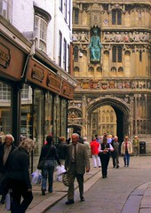 Historic city of Canterbury (* RICHARD M) Tags: old travel england history tourism stone architecture kent ancient britain candid cities culture churches cathedrals arches canterbury tudor historic angels archways carvings canterburycathedral oldeworlde