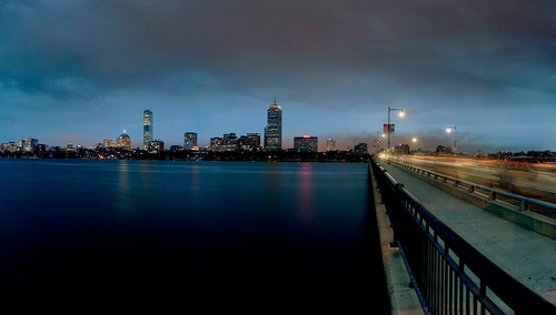Boston at Dusk HDR Pano