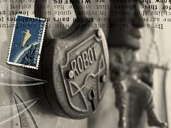 HMK Archive Robot Tiki Card Cover (Howdy, I'm H. Michael Karshis) Tags: test mystery robot mural mercury lock space stamp mysterious tiki hmk karshis fins hmkarshis sharkthang hmkarchive hmichaelkarshis