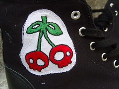 Cherry Shoes Close Up