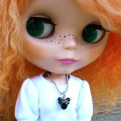 Halloween Bat Necklace for Blythe