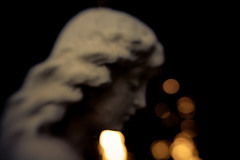 Contemplating (Brady Withers) Tags: cemetery statue lensbaby canon utah outoffocus saltlakecity saltlakecemetery rebelxsi lensbabycomposer bwsterlingphotography
