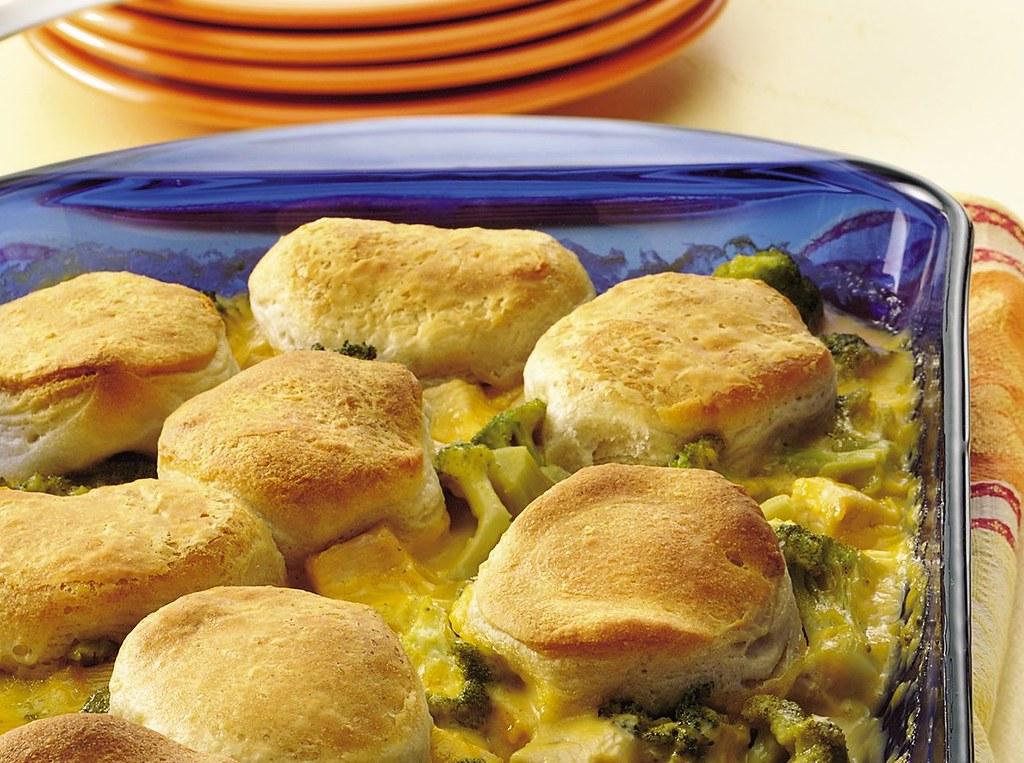 Creamy Turkey and Broccoli Cobbler Recipe