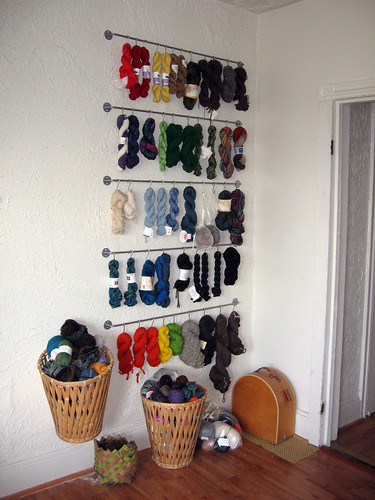 knitting storage spinning fiber containers wallofyarn storagesolutions knittinglove yarnwall stashcontainment forthefiberlover
