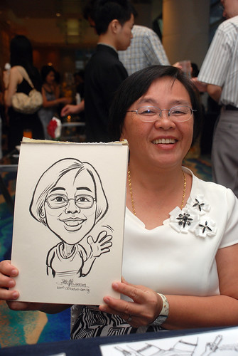 Caricature live sketching for SMC Teachers'Day D&D 2009 - 5
