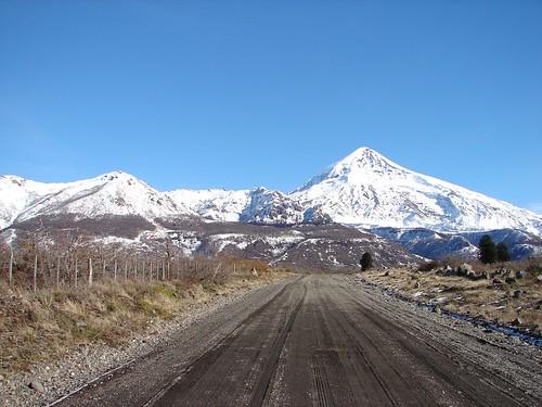 Caminho entre Pucón/Chile e Junin de Los Andes/Argentina