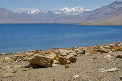 Tso Moriri and view back to Himalaya Range (Andreas' Photos) Tags: ladakh tsomoriri korzok