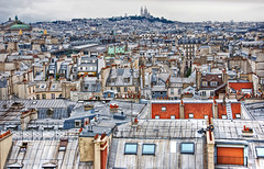 Paris Rooftops (Faddoush) Tags: city urban house paris france opera rooftops coeur scare hdr faddoush