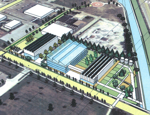 the proposed Climate Sustainability Center (via Brush Creek Community Partners)
