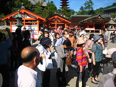the hoard (shiruandcamera) Tags: ocean red orange tourism water japan island gate shrine view gorgeous hiroshima miyajima  torii   itsukushima    nihonsankei