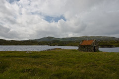 Old Hut with Red Roof near the Bostadh, Isle of Lewis (www.bazpics.com) Tags: old roof red vacation house holiday building metal island scotland tour great scottish august visit hut isle westernisles 2009 outerhebrides bernera bostadh barryoneilphotography lochnamuilne