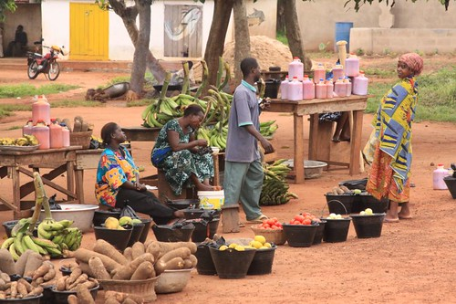 Village market on my way north to Tamale, Ghana...